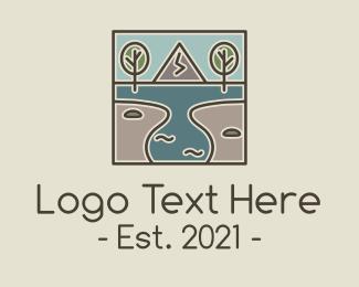 Lakeshore - Outdoor Travel Lagoon  logo design