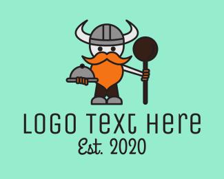 Eating - Viking Cook logo design