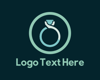 Wedding - Blue Wedding Ring logo design