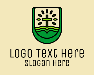 Catholic - Green Eco Church  logo design