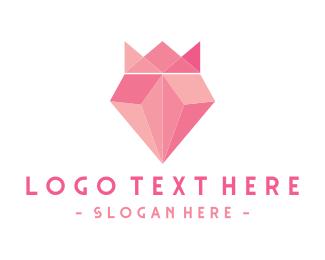 Jeweller - Pink Diamond King logo design