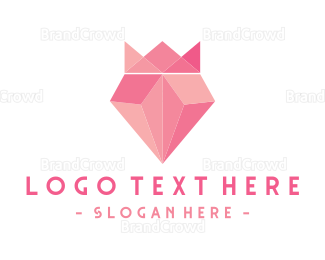 Fortune - Pink Diamond King logo design