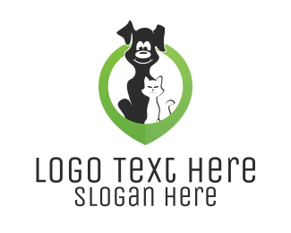 Veterinary - Veterinary Location Pin logo design