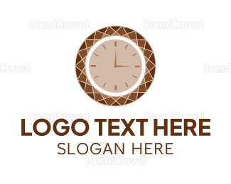 Second - Brown Diamond Clock logo design