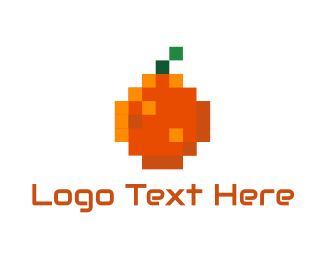 App - Orange Pixel logo design