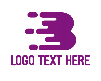 Gaming - Purple B Paint logo design