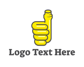 Approved - Thumbs Up Pipe logo design