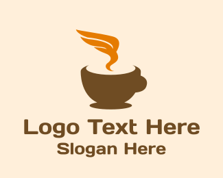 Hot - Hot Winged Coffee logo design