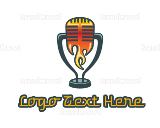 Rock Band - Red Hot Microphone logo design