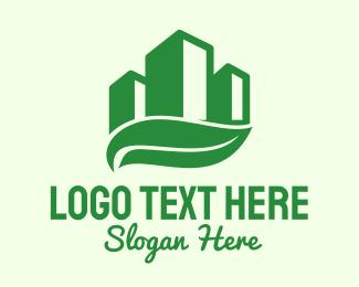 Buildings - Violet Building Leaf  logo design