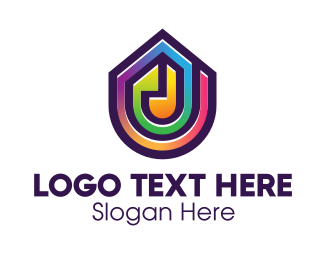 Event Space - Corlorful Gradient Stained Glass logo design