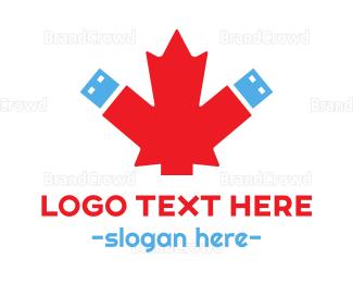 Canadian - Canadian Data logo design