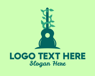 Guitar Lesson - Guitar Nature Sounds logo design