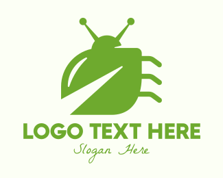 Tick - Green Leaf Bug logo design