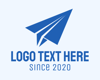 Flight School - Minimalist Paper Plane logo design