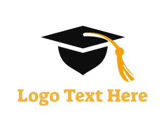 Learn - Square Academic Cap logo design