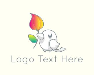 Sparrow - Cute Little Bird logo design