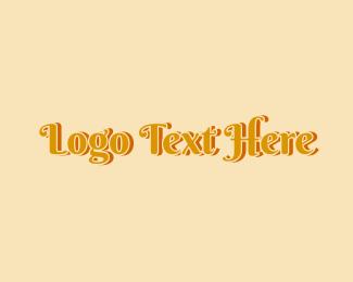 Fashion Designer - Vintage Fashion Retro Wordmark logo design