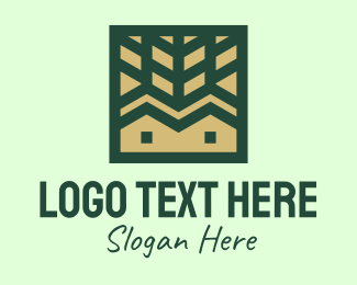 Landscape Garden - Woods Cabin Housing logo design