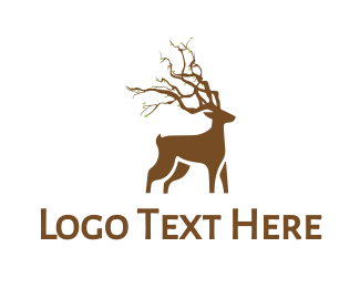 Forest - Forest Deer logo design