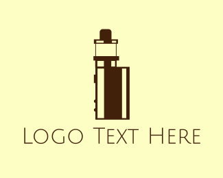 Nicotine - Tiny Vape Device logo design