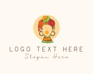 Zulu - African Woman logo design