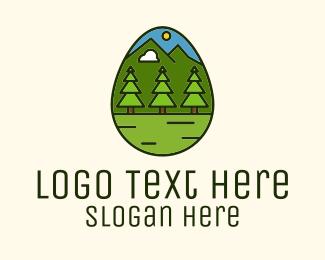 Hills - Outdoor Adventure Egg logo design
