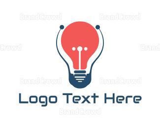 Smart - Red Bulb logo design