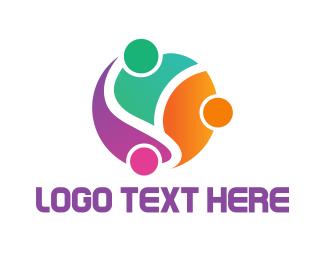 Teamwork - Modern Society logo design