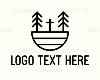 Christian - Forest Church logo design