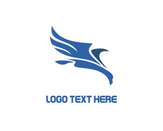 Vulture - Abstract Blue Bird logo design