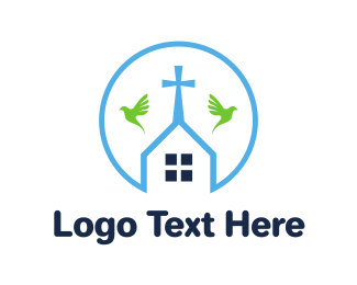 Funeral Home - Round Chapel Outline logo design