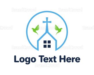 Chapel - Round Chapel Outline logo design