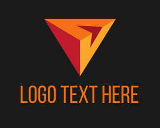 Browser - V Triangle logo design