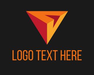 Triangular - V Triangle logo design