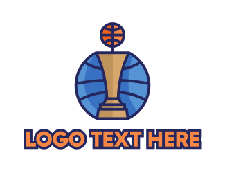 League - Basketball Tournament Competition Trophy logo design