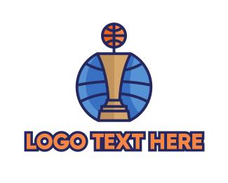 Mvp - Basketball Tournament Competition Trophy logo design
