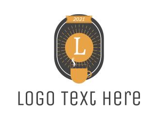 Drinks - Sun Coffee Lettermark logo design