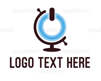 Globe - Power Globe  logo design
