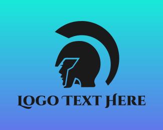 Mythology - Female Gladiator logo design