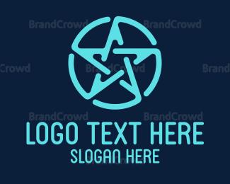 Magic - Blue Stroke Star logo design