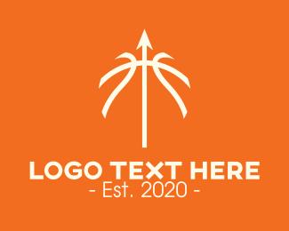 Directional - Basketball Arrow logo design