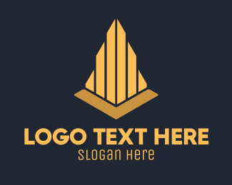 Golden Elegant Architecture Firm Logo