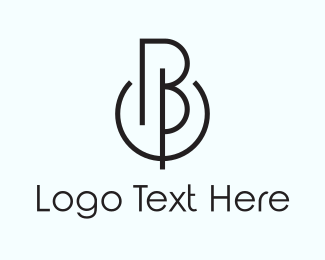 Bp - B & P logo design