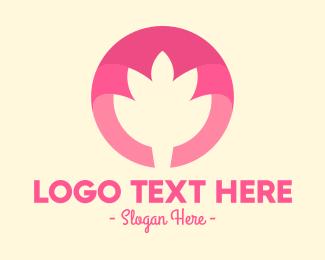 Flower - Pink Flower Bud logo design