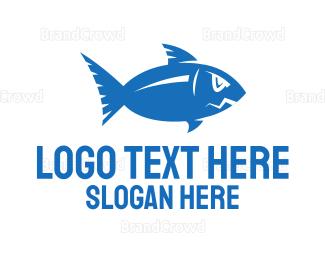 No - Blue Fish logo design