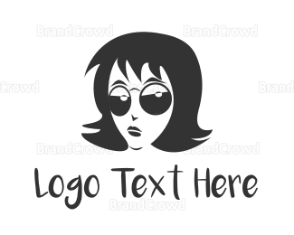 Burning Man - Cool Girl logo design