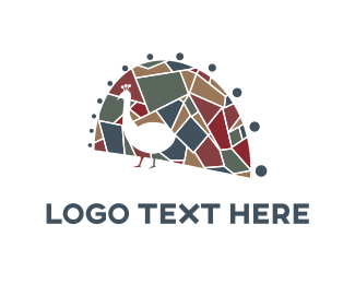 Turkey - Peacock Mosaic logo design