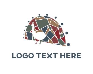 Peacock - Peacock Mosaic logo design