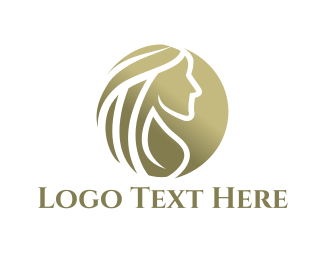 Feminine - Golden Woman logo design